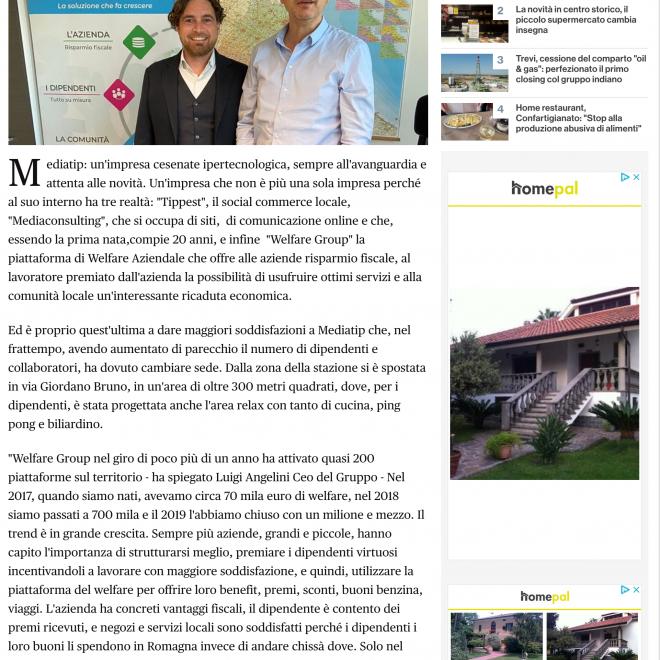 E boom del welfare aziendale con una piattaforma cesenate le risorse tornano in circolo in Romagna