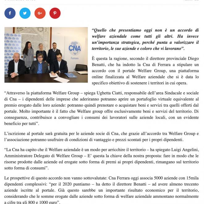 Welfare aziendale accordo innovativo tra Cna Ferrara e Welfare Group – Telestense (1)